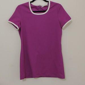 VINTAGE 1960/70s Russ Purple Tunic Top sz M